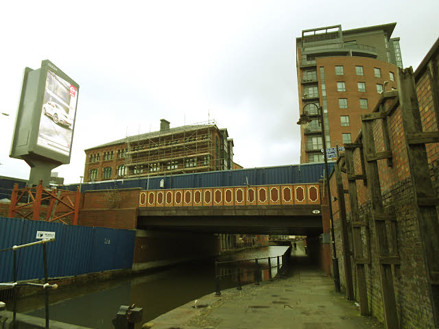 Road bridge over the Rochdale Canal in Manchester