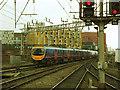 SJ8397 : Oxford Road station: departure from platform 2 by Stephen Craven