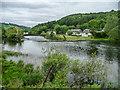 SD3585 : River Leven near Lakeland Motor Museum, Cumbria by Christine Matthews