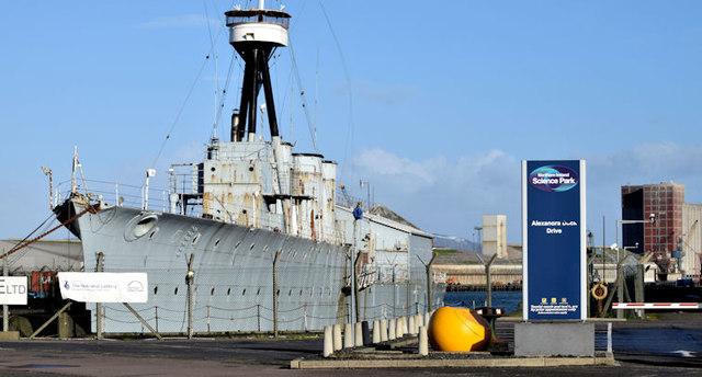 """HMS """"Caroline"""", Belfast - January 2015(1)"""