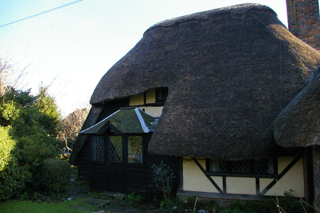 Saxon Cottage, Church Street, Steyning: rear view