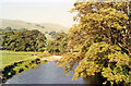 SD8790 : Upper Wensleydale: looking upstream from Haylands Bridge, 1991 by Ben Brooksbank