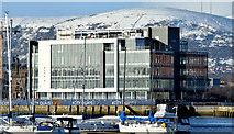 J3475 : CQ1, City Quays site and snow, Belfast  (January 2015) by Albert Bridge