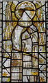 TQ7927 : Medieval Stained glass window, St Nicholas' church by Julian P Guffogg