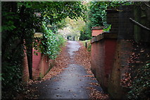 TQ5838 : Dismantled railway bridge, Upper Cumberland Walk by N Chadwick
