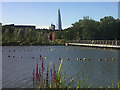 TQ3377 : Burgess Park with view to the Shard by Stephen Craven