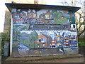 TQ2987 : Mural in Sunnyside Community Gardens by Marathon