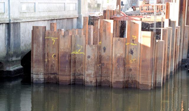 Connswater works, Mersey Street bridge - February 2015(2)