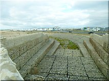 SY6874 : Portland, sea defences by Mike Faherty
