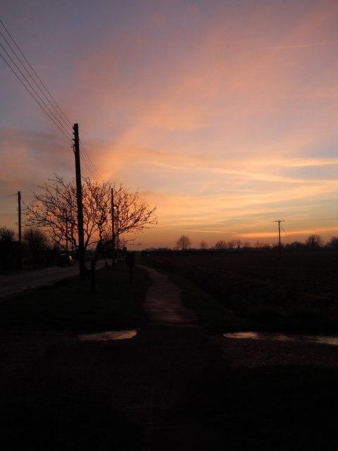 Winter sunset, Peakirk