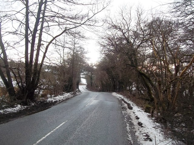 B5056 Road near Birchover