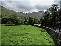 NY3915 : Roadway with Goldrill Beck on the Left, Patterdale, Cumbria by Christine Matthews