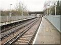 TQ0969 : Upper Halliford railway station, Surrey by Nigel Thompson