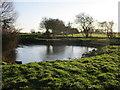 TA3129 : Frozen pond, Rimswell by Jonathan Thacker