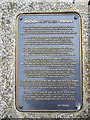 SZ5095 : Poem on Plaque, East Cowes, Isle of Wight by Christine Matthews