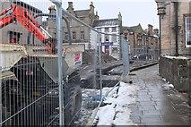 NT2540 : Road works on Cuddy Bridge, Peebles by Jim Barton