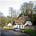 TL6257 : Dullingham: plaster and thatch by John Sutton