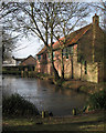 TL6357 : Dullingham: houses by Church Pond by John Sutton