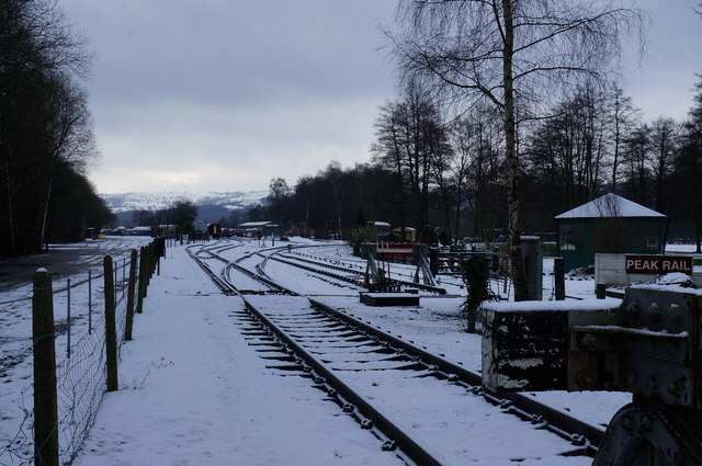Looking towards Rowsley South Station