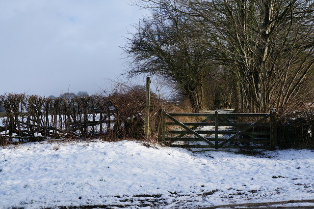 Footpath off Chatsworth Road near Rowsley