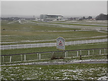 TQ2258 : Epsom: wintry view over the racecourse by Chris Downer