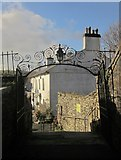 SX1867 : Leaving the churchyard, St Neot by Derek Harper