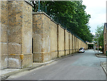 TQ3370 : Former Crystal Palace (High Level) station wall by Robin Webster