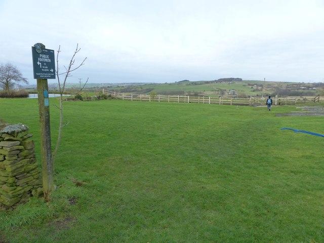 Footpath from Hambleton Fold Farm