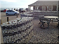 TV5596 : Gabions as landscaping elements, garden to the rear of Birling Gap café by Robin Stott
