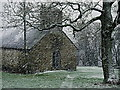 SO2836 : Blowing a blizzard at St. Mary's, Craswall by Jonathan Billinger