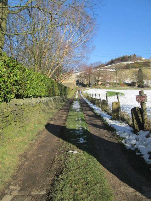 Driveway to Newlands House - Warley Town Lane