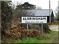 TM4460 : Ardringham Village Name sign by Adrian Cable
