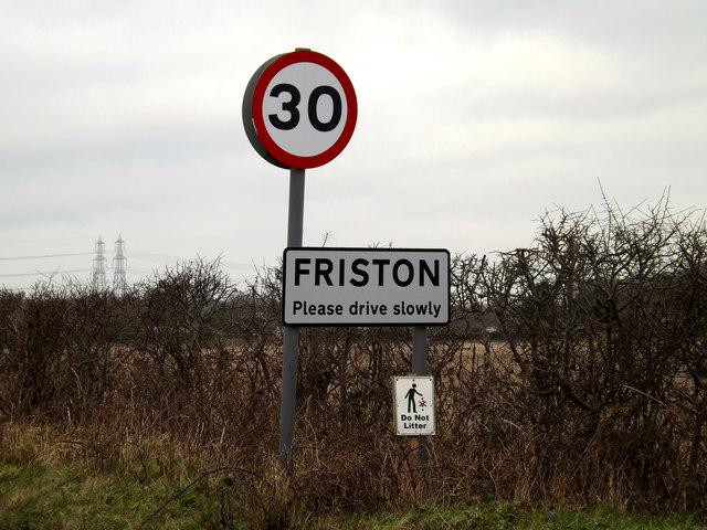Friston Village Name sign