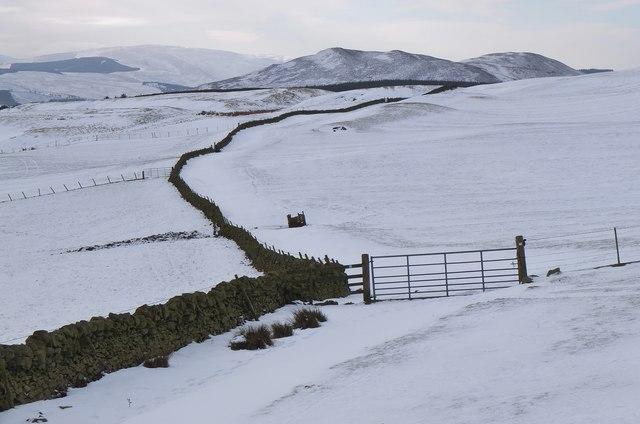Snow-covered pastures, Stewarton