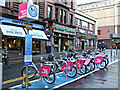 NS5965 : Nextbike Glasgow cycle hire point: Queen Street railway station by Thomas Nugent
