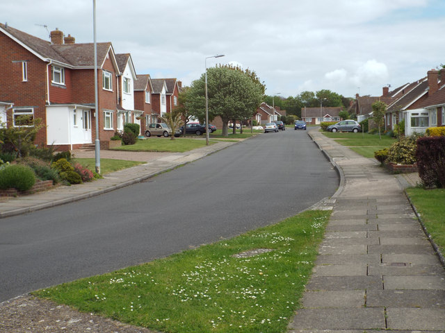 A bend on Kingsmead, Seaford