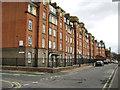 TQ3278 : Peabody Trust flats, Walworth, Wadding Street frontage by Robin Stott