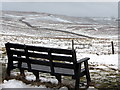 NY6441 : Seat at Hartside Cross by Andrew Curtis