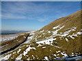 NS6387 : Drystane dyke, Fintry Hills by Alan O'Dowd