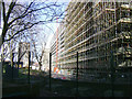 TQ3278 : Block for demolition partly under scaffolding, Heygate Estate by Robin Stott