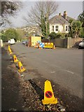 SX9065 : Roadworks, Teignmouth Road, Torquay by Derek Harper
