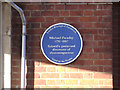 Photo of Michael Faraday Belgian Blue Stone plaque