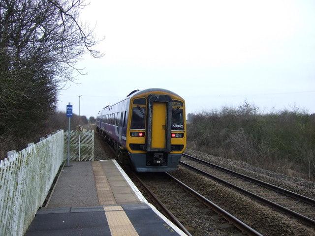 Train leaving Arram Railway Station