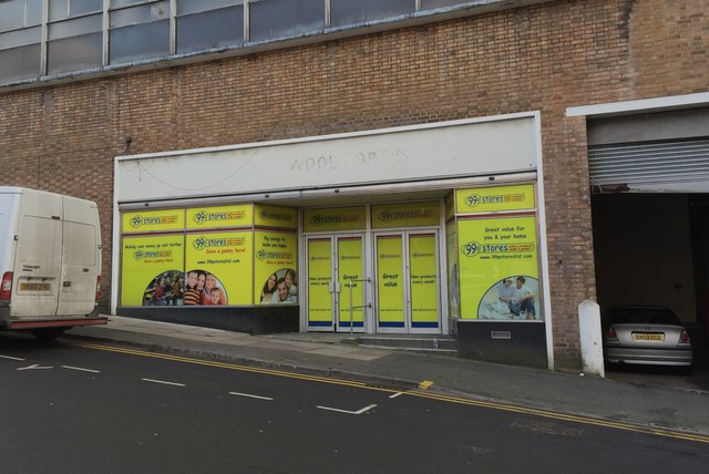 Newcastle-under-Lyme: The ghost of Woolworths on Friars Street