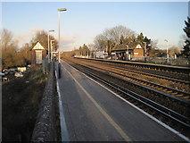 TQ0562 : Byfleet & New Haw railway station, Surrey by Nigel Thompson