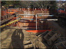 TQ4077 : Excavating a basement by Stephen Craven