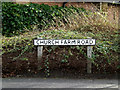TM4557 : Church Farm Road sign by Adrian Cable