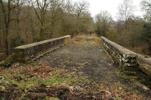On a disused railway bridge