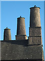 SD3096 : Three chimneys, Coniston Hall by Karl and Ali