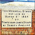 TL4459 : Foundation stone for Castle End Mission by Tiger